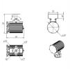 Светодиодный светильник Ex-ДСП 24-90-50-Д120