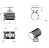 Светодиодный светильник ДСП 27-70-850-К40