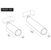 Светодиодный светильник PIXAR 34-50/90-6x2