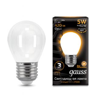Лампа Gauss LED Filament Globe Opal
