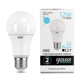 Лампа Gauss LED Elementary A60