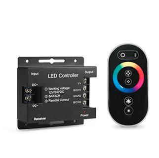 Контроллер для RGB с сенсорным пультом управления цветом (черный)