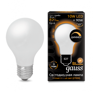 Лампа Gauss LED Filament A60 Opal