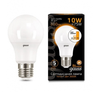 Диммируемая лампа Gauss LED A60 step dimmable