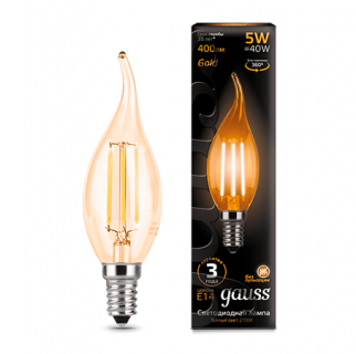 Лампа Gauss LED Filament Candle tailed Golden