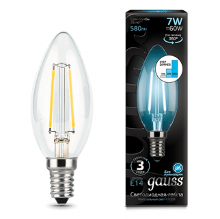 Лампа Gauss LED Filament Candle step dimmable