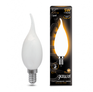Лампа Gauss LED Filament Candle tailed Opal