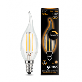 Лампа Gauss LED Filament Candle tailed dimmable