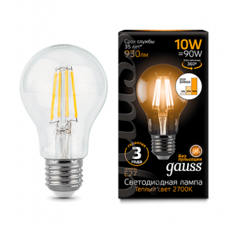 Лампа Gauss LED Filament A60 step dimmable