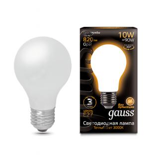 Лампа Gauss LED Filament A60 Opal