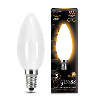 Лампа Gauss LED Filament Candle Opal