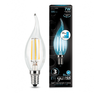 Лампа Gauss LED Filament Candle tailed step dimmable