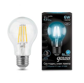 Лампа Gauss LED Filament A60
