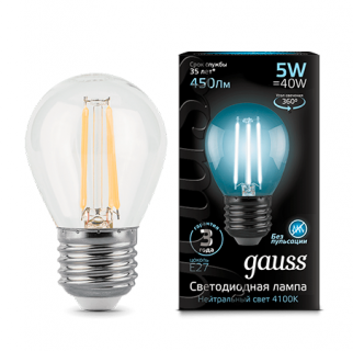 Лампа Gauss LED Filament Globe