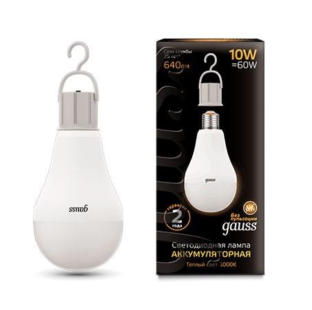 Лампа Gauss LED A60 с Li-Ion аккумулятором